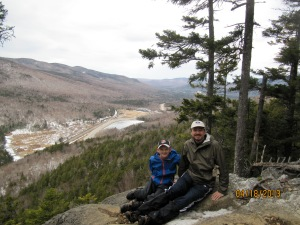 Resting on a cliff overlooking Crawford North