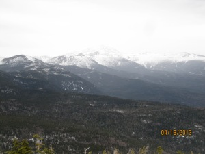The view of Mt. Washington from Mt. Jackson.