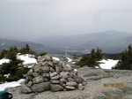 A cairn at the top of Mt. Jackson.