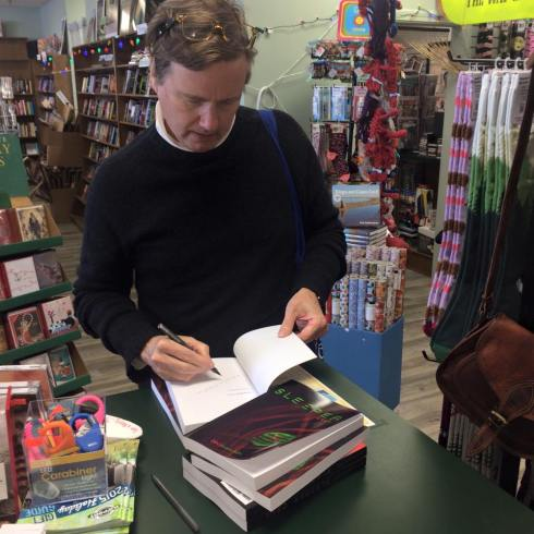 Signing copies at Booksmith/Musicsmith in Orleans.